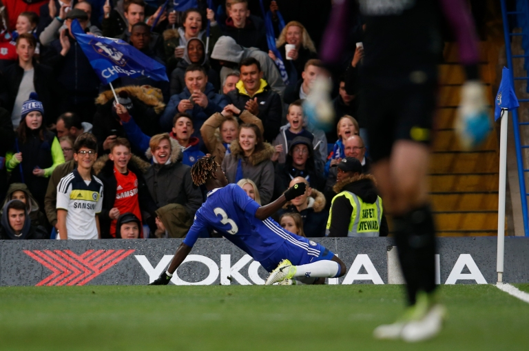 Chelsea's Trevoh Chalobah celebrates scoring their first goal